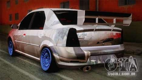 Dacia Logan Most Wanted Edition v1 para GTA San Andreas esquerda vista