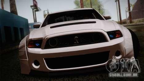 Ford Shelby GT500 RocketBunny SVT Wheels para GTA San Andreas vista traseira