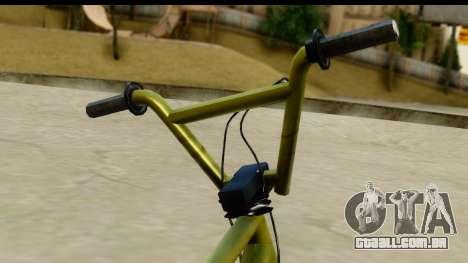 GTA 5 BMX para GTA San Andreas traseira esquerda vista
