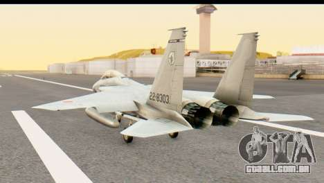 F-15DJ Mitsubishi Heavy Industries para GTA San Andreas esquerda vista