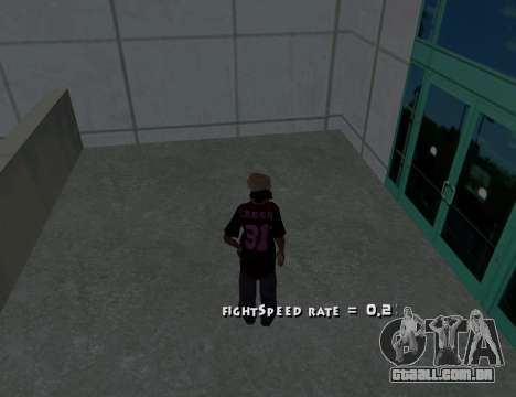 Cleo Fight Speed para GTA San Andreas segunda tela