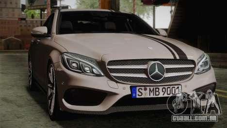 Mercedes-Benz C250 AMG Edition 2014 EU Plate para GTA San Andreas vista traseira