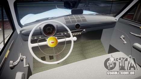 Ford Custom Fordor 1949 v2.1 para GTA 4 vista interior