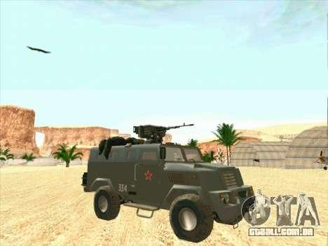 Blindados Urso para GTA San Andreas vista traseira