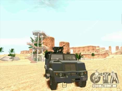 Blindados Urso para GTA San Andreas traseira esquerda vista