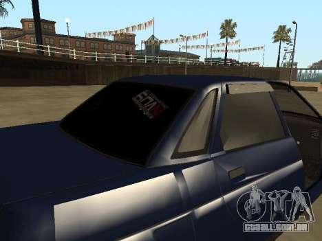 VAZ 2110 para GTA San Andreas vista inferior