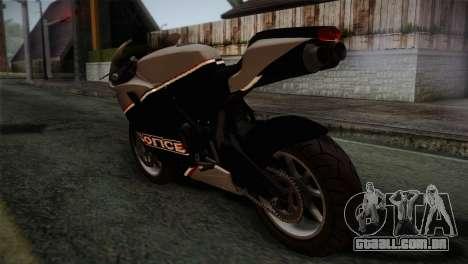 GTA 5 Bati Police para GTA San Andreas esquerda vista
