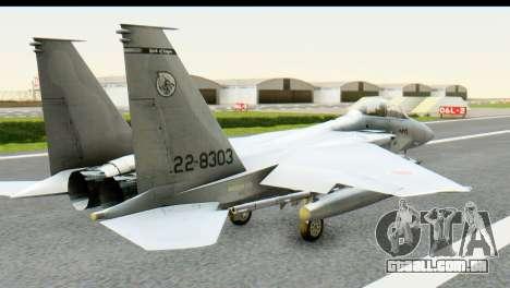 F-15J Mitsubishi Heavy Industries para GTA San Andreas esquerda vista