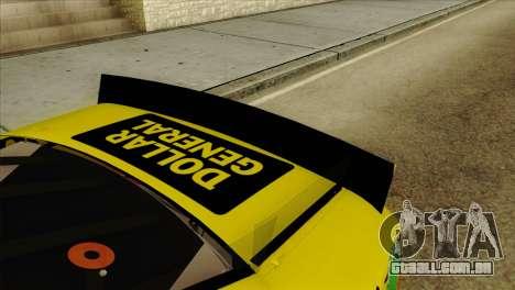 NASCAR Toyota Camry 2013 para GTA San Andreas vista traseira