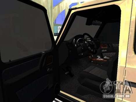 Mercedes-Benz G65 AMG para GTA San Andreas vista traseira