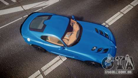 Dodge Viper SRT 2013 rims2 para GTA 4 vista direita