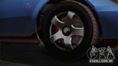 GTA 5 Karin Sultan IVF para GTA San Andreas traseira esquerda vista