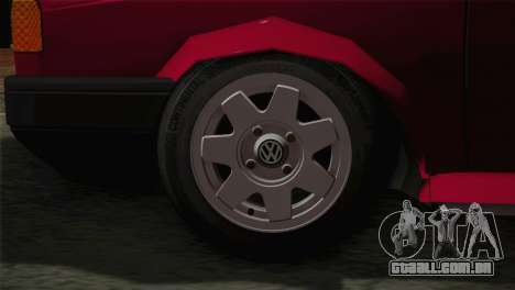 Volkswagen Senda para GTA San Andreas traseira esquerda vista