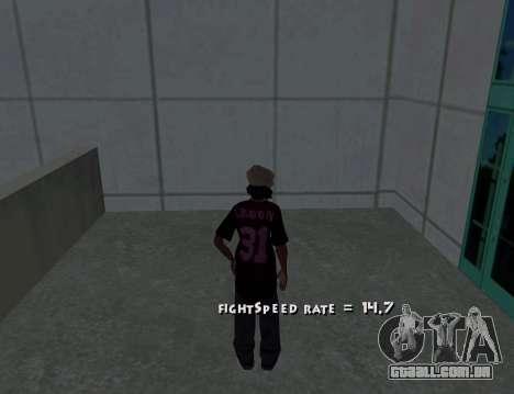 Cleo Fight Speed para GTA San Andreas terceira tela