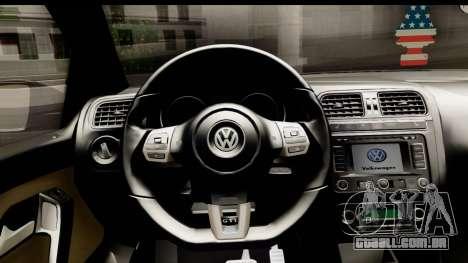 Volkswagen Polo GTI para GTA San Andreas vista traseira
