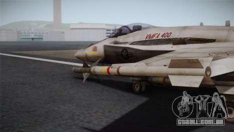F-18 Hornet (Battlefield 2) para GTA San Andreas vista direita