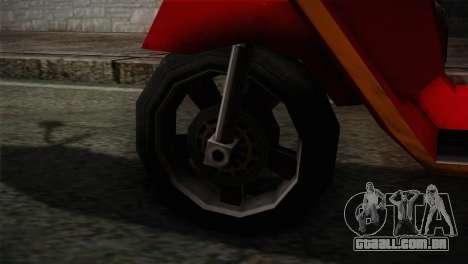 Original Pizzaboy IVF para GTA San Andreas traseira esquerda vista