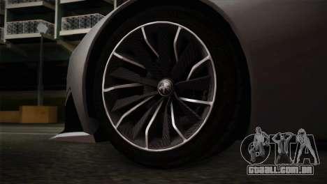 Peugeot Onyx para GTA San Andreas traseira esquerda vista