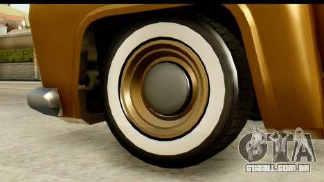 EFLC TLaD Vapid Slamvan para GTA San Andreas traseira esquerda vista