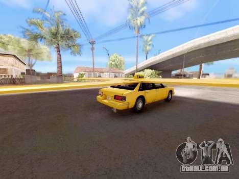 Alado táxi para GTA San Andreas esquerda vista