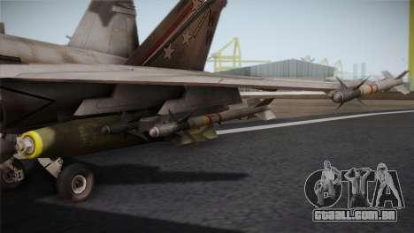 F-18 Hornet (Battlefield 2) para GTA San Andreas vista traseira