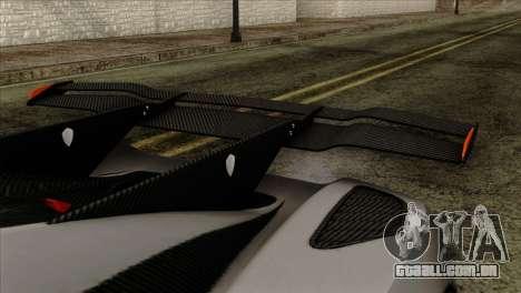 Koenigsegg One 1 para GTA San Andreas vista direita