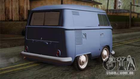 Volkswagen T1 Short para GTA San Andreas esquerda vista
