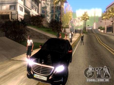 Mercedes-Benz Long S65 W222  Black loaf para GTA San Andreas vista traseira