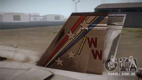 F-18 Hornet (Battlefield 2) para GTA San Andreas traseira esquerda vista