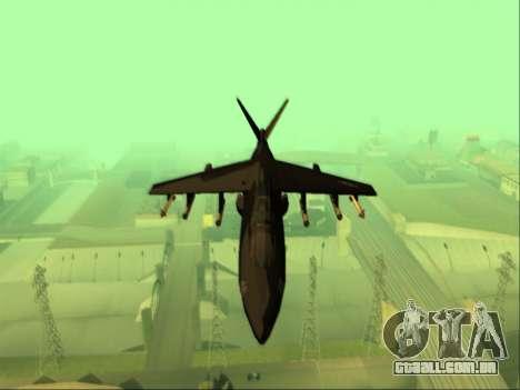 McDonnell Douglas AV-8B Harrier II Beta para GTA San Andreas vista interior