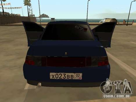 VAZ 2110 para GTA San Andreas vista superior