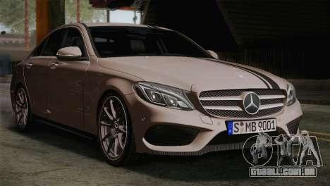 Mercedes-Benz C250 AMG Edition 2014 EU Plate para GTA San Andreas