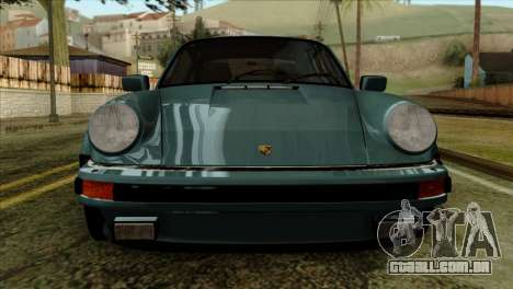 Porsche 911 Turbo 3.3 Coupe 930 1981 para GTA San Andreas vista traseira