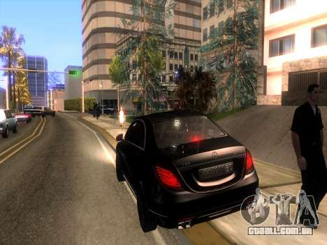 Mercedes-Benz Long S65 W222  Black loaf para GTA San Andreas
