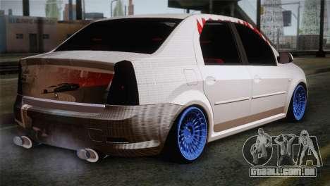 Dacia Logan Most Wanted Edition v3 para GTA San Andreas esquerda vista