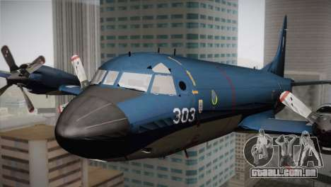 Lockheed P-3 Orion MLD Old para GTA San Andreas vista traseira