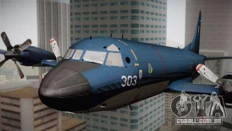 Lockheed P-3 Orion MLD Old para GTA San Andreas vista traseira