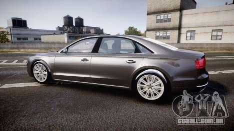 Audi A8 L 4.2 FSI quattro para GTA 4 esquerda vista