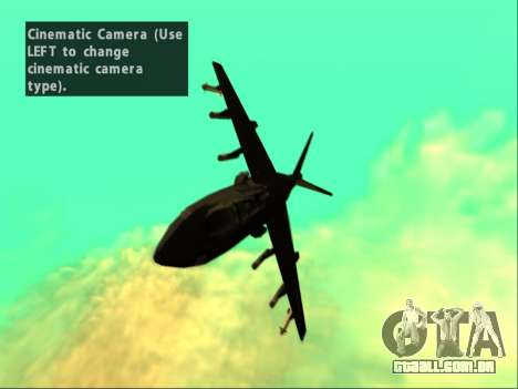 McDonnell Douglas AV-8B Harrier II Beta para vista lateral GTA San Andreas