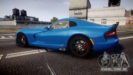 Dodge Viper SRT 2013 rims2 para GTA 4 esquerda vista