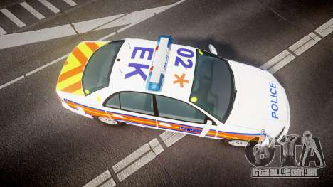Vauxhall Omega Metropolitan Police [ELS] para GTA 4 vista direita