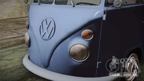 Volkswagen T1 Short para GTA San Andreas vista traseira