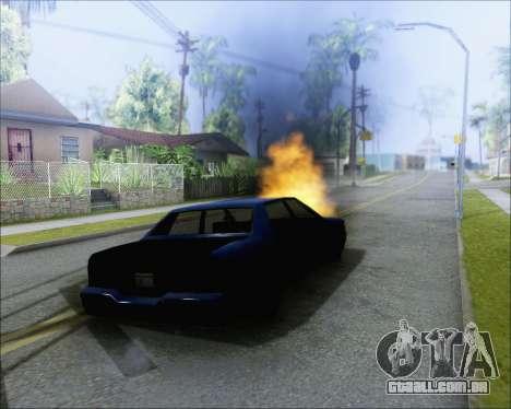 Andando em carros queimados para GTA San Andreas segunda tela