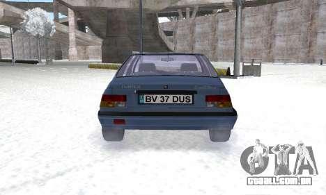 Dacia Super Nova para GTA San Andreas vista traseira