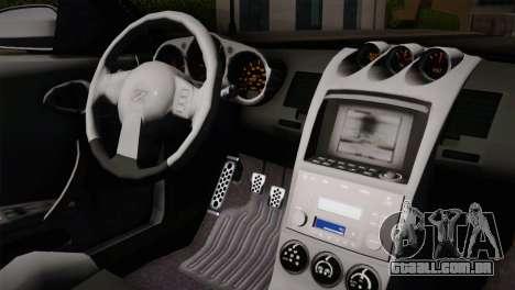 Nissan 350Z Nismo para GTA San Andreas vista traseira