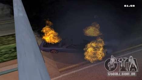 Burning Car para GTA San Andreas terceira tela