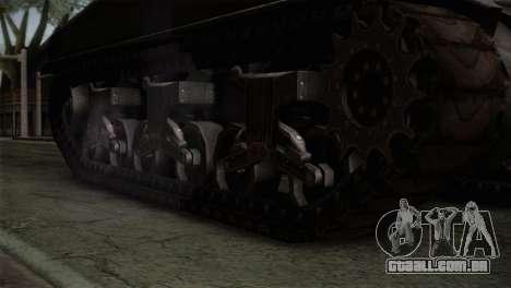 M4 Sherman para GTA San Andreas vista direita