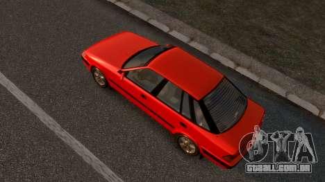 Daewoo Espero 2.0 CD 1996 para GTA 4 traseira esquerda vista
