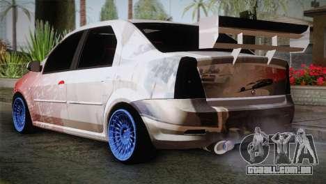 Dacia Logan Most Wanted Edition v2 para GTA San Andreas esquerda vista