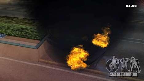 Burning Car para GTA San Andreas por diante tela